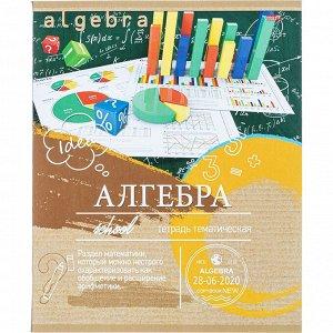 Тетрадь предметная А5,36л,мел.карт. АЛГЕБРА ЭКО-СЕРИЯ (36-6314)