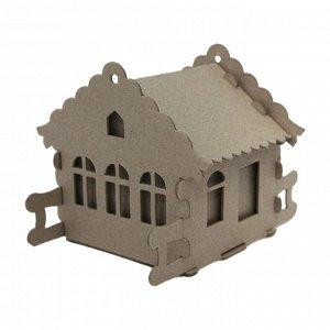 Набор для творчества сборный картонный домик для раскрашивания, И...