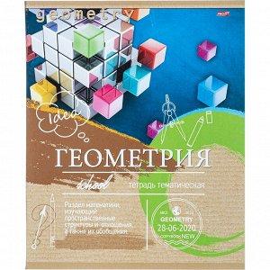 Тетрадь предметная А5,36л,мел.карт. ГЕОМЕТРИЯ ЭКО-СЕРИЯ (36-6318)