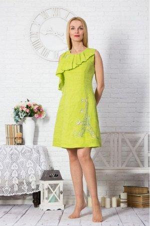 Платье женское Монро новая роспись модель 356/5 зеленое яблоко