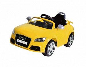 Машина на аккумуляторе для катания детей 676AR AUDI (желтая)
