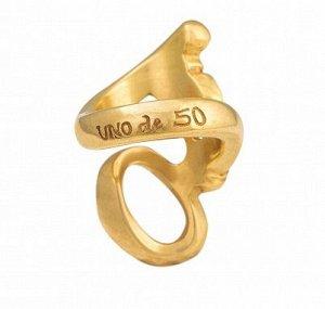 """Кольцо UNOde50 ANI0407 """"Теперь ты видишь"""" L Золотой цвет"""