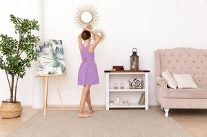 Лиловое платье-сарафан 10-11