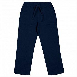 Темно-синие брюки из футера 10-11