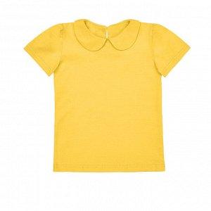 Желтая блузка с коротким рукавом 12