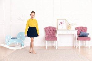 Желтая блузка с длинным рукавом 10-11