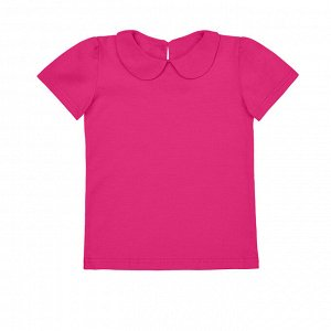 Фуксия блузка с коротким рукавом 10-11