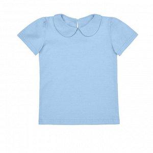 Голубая блузка с коротким рукавом 8-9