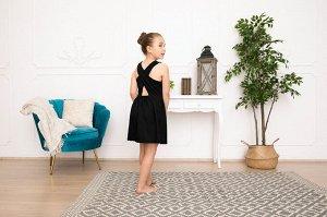 Черное платье-сарафан 8-9