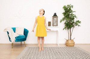 Желтое платье-сарафан 8-9