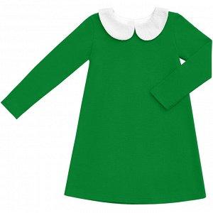 Зеленое платье с воротничком 2-3