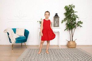 Красное платье-сарафан 8-9