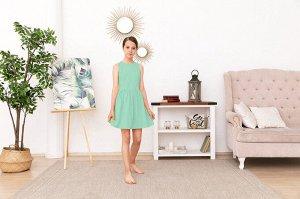 Мятное платье-сарафан 10-11