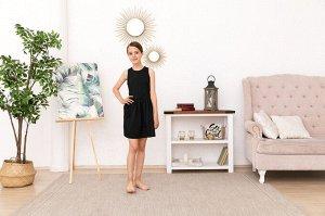 Черное платье-сарафан 10-11