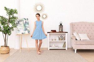 Голубое платье-сарафан 10-11