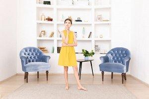 Желтое платье-сарафан 12