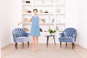 Голубое платье-сарафан 12