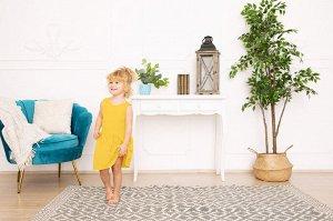 Желтое платье-сарафан 2-3