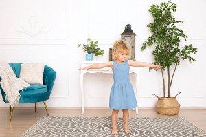 Голубое платье-сарафан 2-3