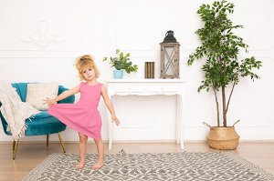Розовое платье-сарафан 2-3