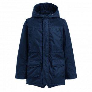 Темно-синяя куртка-парка 4-5
