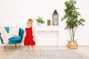 Красное платье-сарафан 2-3