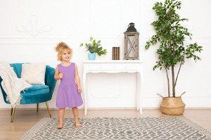 Лиловое платье-сарафан 2-3