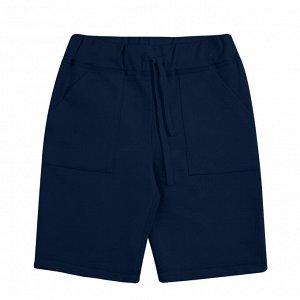 Темно-синие шорты из футера 10-11