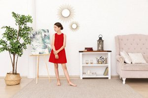 Красное платье-сарафан 10-11