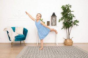 Голубое платье-сарафан 8-9