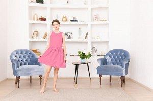 Розовое платье-сарафан 12