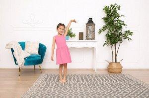Розовое платье-сарафан 4-5