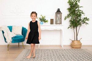 Черное платье-сарафан 4-5