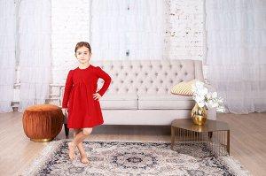Красное платье с завышенной талией 4-5