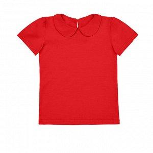 Красная блузка с коротким рукавом 10-11