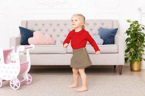 Красная блузка с длинным рукавом 2-3