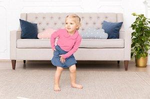 Розовая блузка с длинным рукавом 2-3