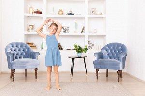 Голубое платье-сарафан 6-7