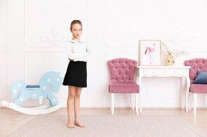 Белая блузка с длинным рукавом 10-11