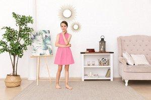 Розовое платье-сарафан 10-11