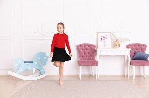 Красная блузка с длинным рукавом 8-9