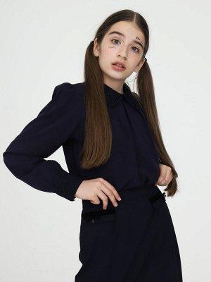 ШКОЛА, ОФИС, Универ _ БЕЛАЯ Блузка прилегающего силуэта, очень красивая в реале