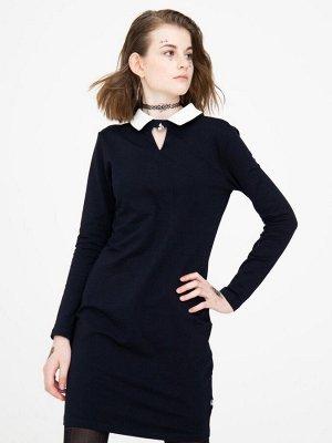 Платье прилегающего силуэта для девочки  Цвет:темно-синий