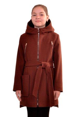 Пальто Цвет: Коричневый; Материал: Кашемир