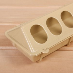 Кормушка-поилка для перепелов, 24 ячейки, лотковая, пластик