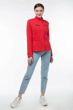 Ветровка Цвет: Красный Материал: Жаккард Длина рукава: 60-64 Длина изделия: 59-62 Описание: Рекомендуется брать на размер больше. С подкладкой.Застегивается на молнию и кнопки. Фасон рукава: втачной В