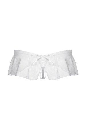 Стринги с юбочкой SoftLine Collection, белый, S/M