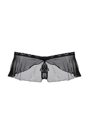 Стринги с юбочкой SoftLine Collection, черный, M/L