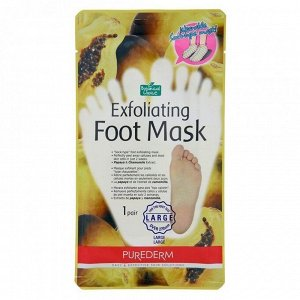 Отшелушивающая маска для ног,  75гр Purederm Exfoliating foot mask Large