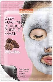 Purederm Deep Purifying Black O2 Bubble Mask Volcanic Отшелушивающая кислородная маска, 20гр